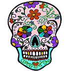 Adult Skull coloring pages