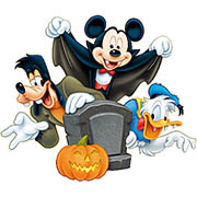 Disney Halloween. Happy Holidays coloring pages for a kids