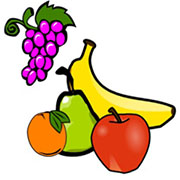 Coloring pages for toddlers and preschoolers. Fruits & vegetables