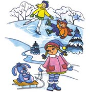 Seasons coloring pages. Winter weather